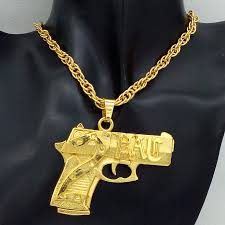 tupac earrings hip hop mens rap gold silver plated 2pac gun pendant