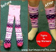 karima u0027s crafts how to make leg warmers out of tights or socks