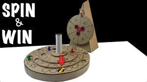 diy cardboard desk game with spinner wheel of fortune tutorial