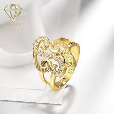 art deco rings unique design multi s shaped inlaid cubic zirconia
