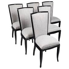 dining room six french art deco dining chairs copy french art