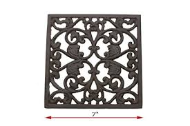Decorative Metal Trivets Decorative Cast Iron Trivet For Kitchen Or Dining Table Square