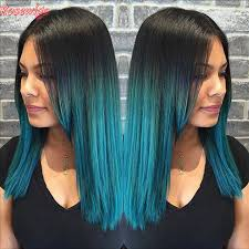 teal hair extensions beauty ombre peruvian hair 7a green ombre weaving hair