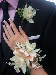 corsage and boutonniere set cymbidium orchid wrist corsage and boutonniere corsages