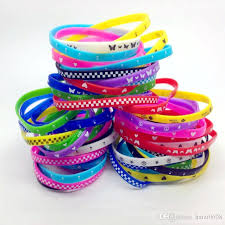 rubber silicone bracelet images Silicone wristband rubber elastic bracelet skull butterfly etc jpg