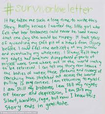 survivorloveletters sees sexual assault victims write moving