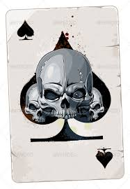 card with skulls tag font logo and fonts