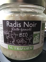 radis noir cuisine radis noir lacto fermente 380 gr poids total