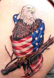 mallteliti cross and american flag tattoos