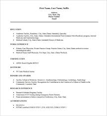 exle resume for doctor resume template 16 free word excel pdf format