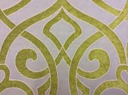 Green Velvet Upholstery Fabric Cut Velvet High End Modern Scroll Medallion Lime U0026 Blue Upholstery