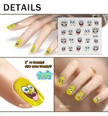 water decal nail sticker sponge bob nail art k128 us 0 30