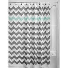coral aqua gray shower curtain flowers from trmdesignshop on etsy