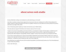 Build An Online Resume by Actors Web Studio Virtual Visibility