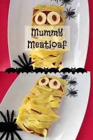 halloween dinner recipe for kids mummy meatloaf