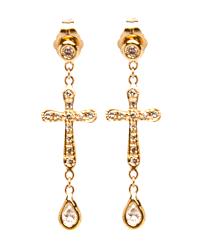 teardrop diamond earrings jacquie aiche teardrop diamond pave cross studs jewelry shak