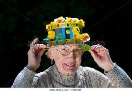 easter bonnet wearing easter bonnet stock photos wearing easter