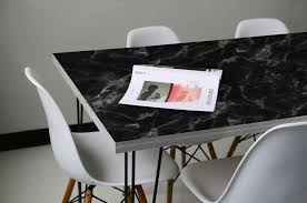 Marble Table Top Black Marble Tabletop Wrap Eazywallz