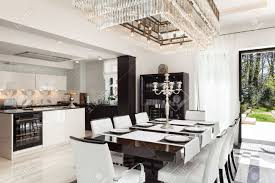 modern house beautiful interiors dining room stock photo picture
