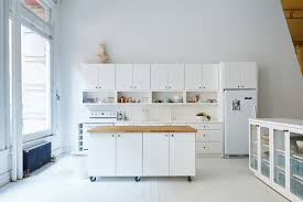 space around kitchen island 8 exles of kitchens with movable islands that make it easy to