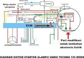 diagram jalur kelistrikan honda vario 125 pgm fi duniamotor net
