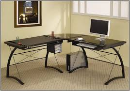 Mezza L Shaped Desk L Shaped Glass Computer Desk Black Desk Home Design Ideas