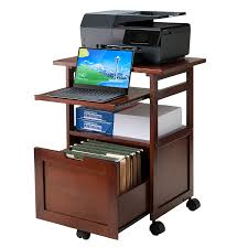 Desk For Laptop And Printer by Amazon Com Winsome Wood Piper Work Cart Printer Stand With Key