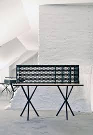 Schreibtisch Klein Holz Holz Schreibtisch Messing Leder Modern Per Söderberg