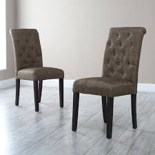 dining chairs high back parsons dining chairs set of 6 tufted