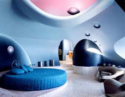 future home interior design vintage futurism retro modern home interior design