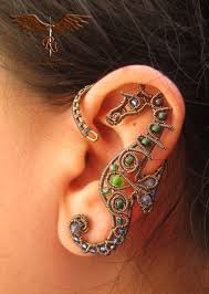 ear clasp seahorse ear cuff similar to the one in the picture wire