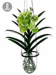 vanda orchids 15 artificial vanda orchid hanging plant in glass vase silk