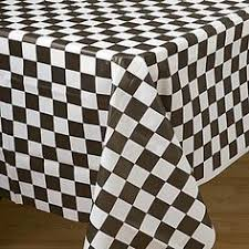 Black And White Table Cloth Plastic Tablecloths Cheap Inexpensive Round And Rectangle