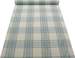Plaid Curtain Material Pastel Blue Green Tartan Window Pane Check Kitchen Gingham Cotton