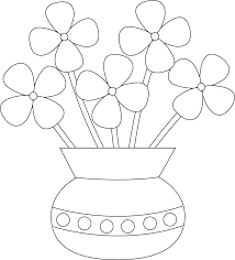Vase Drawing Vase Drawing For Kids Flower Kid Of Flowers Art Library Jpg