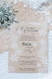 Unique Birthday Invitation Cards Winter Wonderland Birthday Invitations Kawaiitheo Com