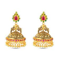 jhumkas earrings ethnic nagas jhumkas earring gold