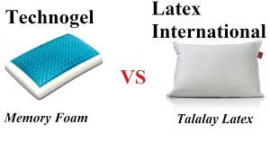 gel memory foam vs latex technogel vs latex international