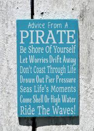 nautical nursery sign kids room wall art advice from a pirate