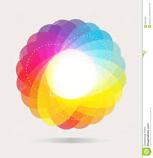 color wheel background stock vector image 53647953