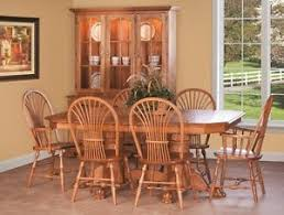 amish country pedestal dining set sheaf chairs claw foot table