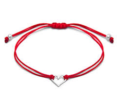 red friendship bracelet images Red thread sterling silver 925 open heart charm jpg