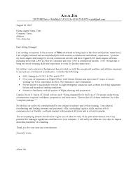 commercial pilot resume examples of a cover letter for a pilots