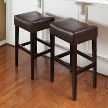 Lydia Black Leather Chrome Chairs Brown Leather Barstools