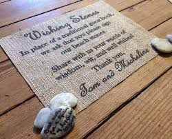 wishing stones wedding wishing stones burlap wedding sign the thrifty gifter