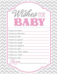 for baby shower baby shower sheet for wishes for baby pink and gray chevron