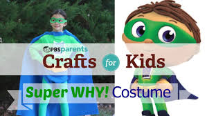 no sew super why costume crafts for kids pbs parents youtube