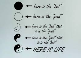 yin yang here is quote vinyl wall decal the eight