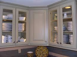 decor wooden kitchen cabinet design ideas with green glass door