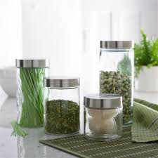 modern glass canister set pretty glass kitchen canisters